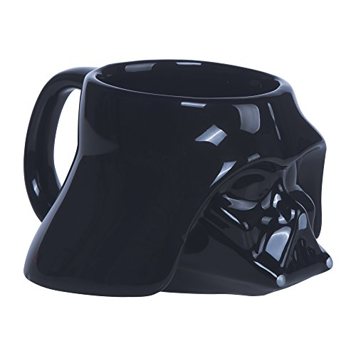 Star Wars - Taza de cerámica, diseño Darth Vader 3D, sin tapa
