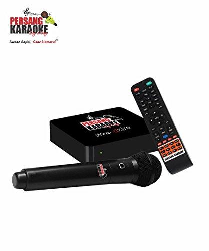 Persang Karaoke New Dzire PK-8162 Karaoke Music System with Wireless Mic and Remote, Black