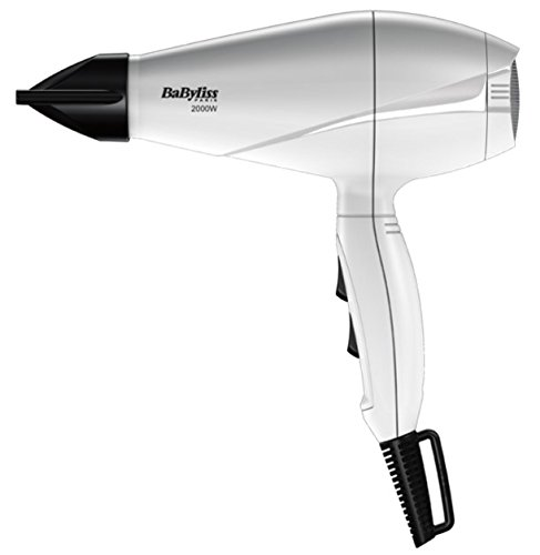 BaByliss 6604WE Asciugacapelli Professionale AC Ionic Hair con Concentratore, 2000 W, Bianco