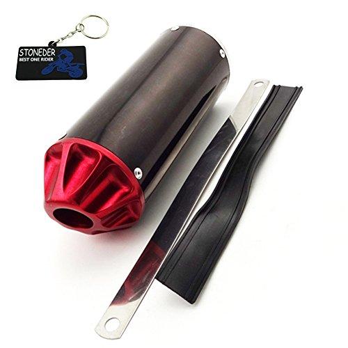 Stoneder silenziatore di scarico 28mm rosso per 50cc 90cc 110cc 125cc XR50CRF50Pit...