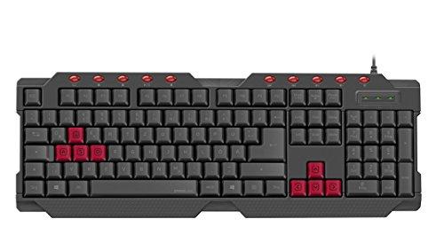 Speedlink FERUS Gaming Keyboard - IT Layout - Tastiera da gioco (USB, 10 tasti funzioni multimedia,...