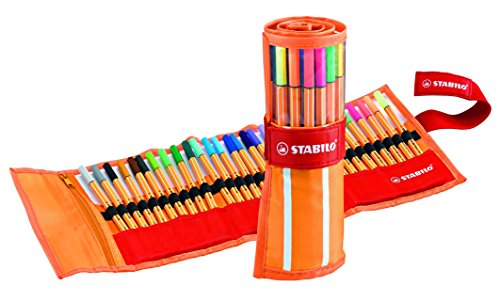 STABILO point 88 Penna Fineliner colori assortiti - Rollerset da 30