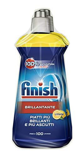 Finish Brillantante Additivo Lavastoviglie, Lemon, 2 x 500 ml