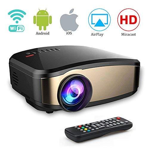 Proiettore Wi-Fi, Weton Full HD 1080P Proiettore LED a LED Portatile Mini Home Proiettore Proiettore...
