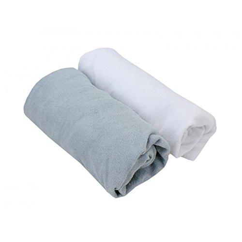 TupTam Babybett Spannbettlaken Frottee 2er Pack, Farbe: Farbenmix 3, Größe: 70 x 140 cm