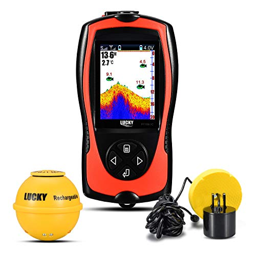 LUCKY Wireless/Sonar Fish Finder Light Lure sensore allarme sistema Deeper Fishfinde