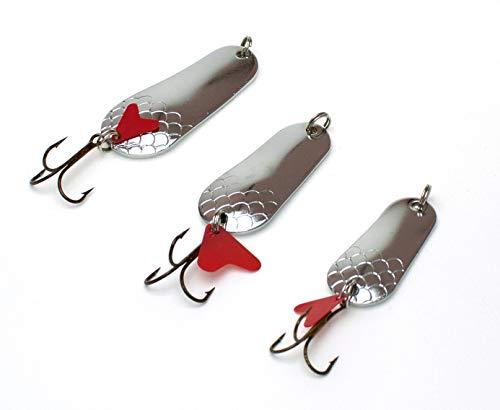 Zite Fishing Kit di Esche Artificiali da Pesca Spinning - Visto che Predatori come Luccio Pesce Persico Trota - Argento 16-34g