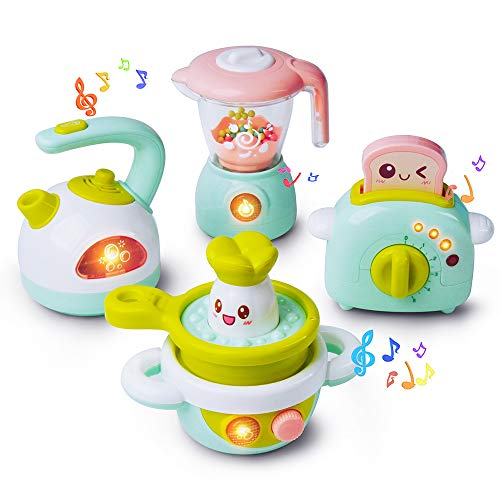 GizmoVine Cucina Giocattolo per Bambini con Tostapane, Mixer, Bollitore e Fornello Role Play Kitchen...