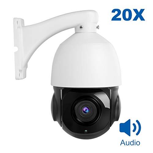 Telecamera IP PTZ, telecamera dome di sicurezza Anpviz 5MP POE, telecamera di sorveglianza 20X Zoom Indoor & Outdoor Waterproof, Motion Detection.