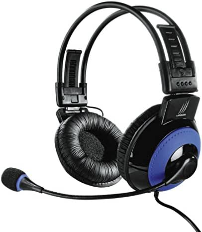 uRage Vibra Gaming-Headset, 3,5 mm Klinkenstecker, USB, blau/schwarz