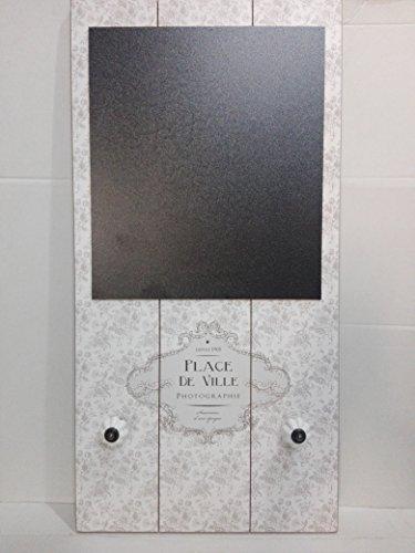 Lavagna lavagnetta promemoria in legno con pomelli in porcellana stile shabby chic Misure 60x30 cm