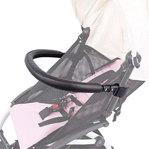 Paracolpi per passeggini,Bracciolo, maniglia, accessori per barra trasversale per Babyzen YoYo e Yoyo +, pelle PU nera