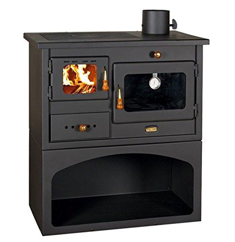 Prity 1, stufa a legna con forno da 10KW, con top in ghisa