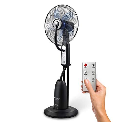DARDARUGA Ventilatore Analogico con NEBULIZZATORE AD Acqua WFD con TELECOMANDO
