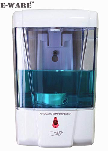E-ware Wall Mounted Touch Less Automatic Soap Dispenser , 700 ml (White)