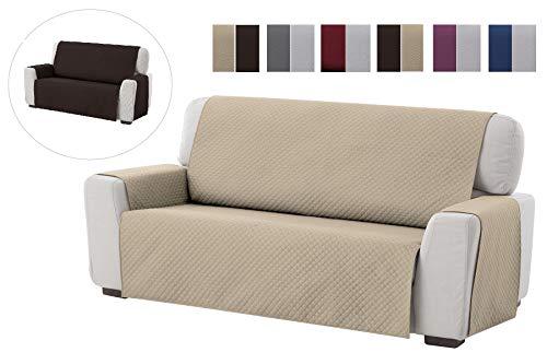 textil-home Salvadivano Trapuntato Copridivano Adele 4 posti Reversibile. Colore Beige