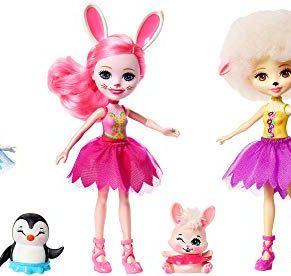 Enchantimals - Pack de 3 muñecas ballet, edad recomandada: 4 - 10 años - (Mattel FRH85), FRH55
