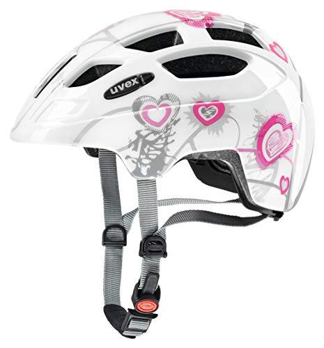 Uvex finale Junior casco da bicicletta, Unisex, finale junior, Heart White Pink, 51-55 cm