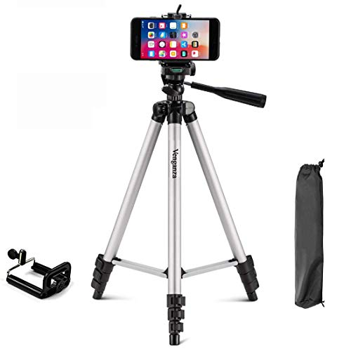 venganza Adjustable Aluminium Alloy Tripod Stand Holder for Mobile Phones, 360 mm -1050 mm, 1/4 inch Screw With best quality Mobile Holder Bracket