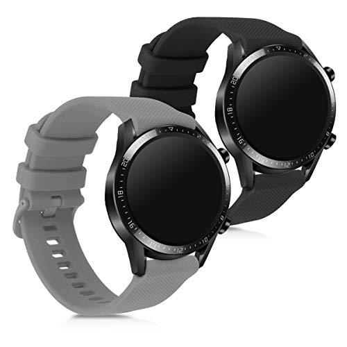 kwmobile Huawei Watch GT2 (42mm) Cinturino in Silicone - 2X Fascetta con Fibbia ca. per Huawei Watch GT2 (42mm)
