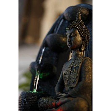Zen'Light - Harmonie Fuente de poliresina, 26x 16x 40cm, Color Negro 5