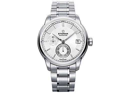 Eterna Adventic Automatik Uhr, Eterna 3914A, Stahlband, Silber