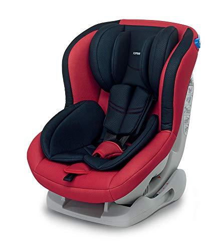 Foppapedretti Mydrive Seggiolino Auto, Gruppo 0/1 (0-18kg), per Bambini dalla Nascita fino a 4 Anni circa, Nero/Rosso