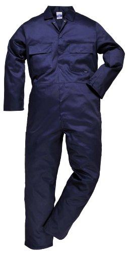 Portwest s999narxs Euro polialgodón mono de trabajo, Regular, tamaño: XS, azul marino