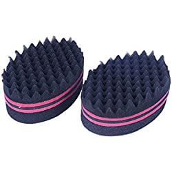 Magic Curl Sponge Brush forma ovale Afro Braid Style Coil Wave Hair Curl per (Rose Red) 1PC