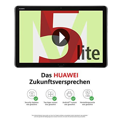 Huawei MediaPad M5 lite WiFi Tablet-PC 25,6 cm (10,1 Zoll), Full HD, Kirin 659, 3 GB RAM, 32 GB interner Speicher, Android 8.0, EMUI 8.0, grau