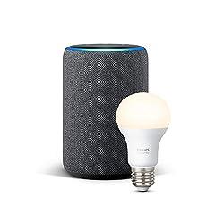 Kaufen Das neue Echo Plus (2. Gen.), Anthrazit Stoff + Philips Hue White Lampe