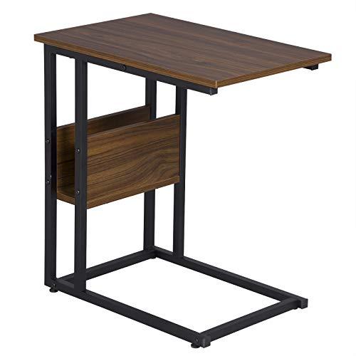 WOLTU TS79dc Tavolino Laterale da Divano Tavolo da caffè Salotto in MDF e Ferro