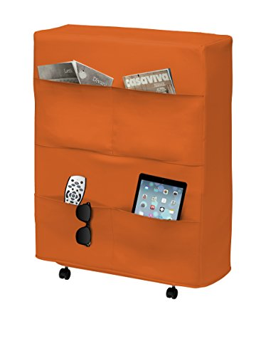13Casa - Brenda task A3 - Rete pieghevole. Dim: 80x32x95 h cm. Col: Arancione. Mat: Acciaio,...