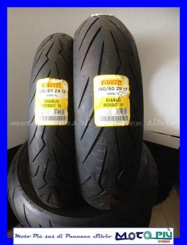 Paar Reifen Zug Reifen PIRELLI DIABLO rot III 120/60-17160/60-17 1