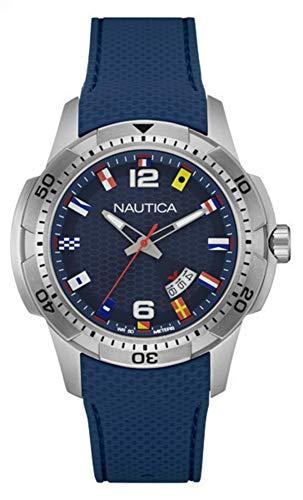Nautica Orologio Analogico Quarzo Uomo con Cinturino in Silicone NAI13515G
