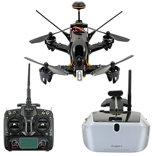 GEHOO GH Walkera F210 Professional Deluxe Racer Quadcopter Drone w/ Goggle4 FPV Glasses /Devo 7 Transmitter /700TVL Night Vision Camera / OSD / Ready to Fly Set RTF Mode 2