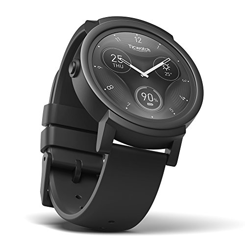 Ticwatch E Shadow Smartwatch con Display OLED da 1,4 Pollici, Android Wear 2.0, Orologio Sportivo...