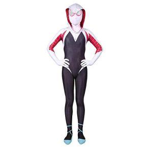 Niño Adulto Gwen Stacy Spiderman Disfraz De Cosplay Halloween Navidad Disfraces De Lujo Accesorios 3D Prin Spandex Mono…