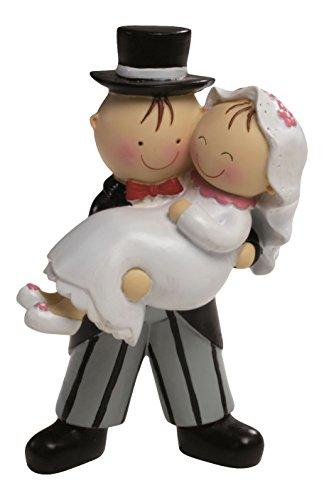 Mopec Pastel Figura de Tarta Novia en Brazos, Blanco Roto