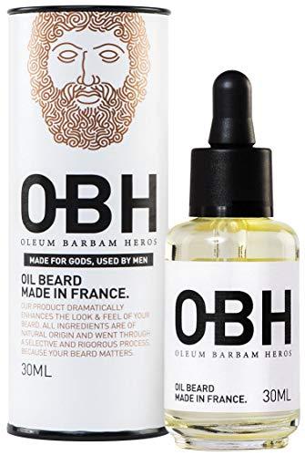 Il Miglior Balsamo Olio da Barba di Altissima Qualità Completamente Naturale per Uomo OBH   Crescita Eroica della Barba e Cura Perfetta direttamente dalla Natura  Prodotto in Francia