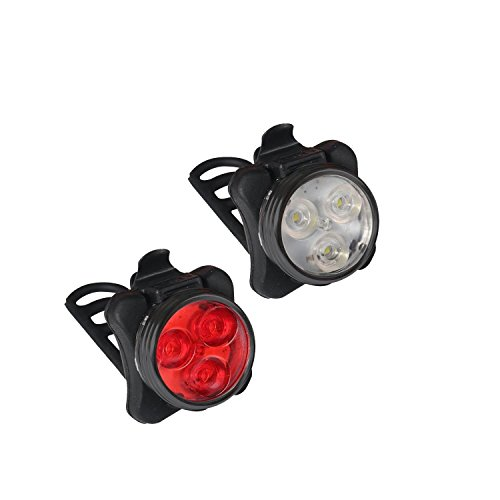 Collory, Set lampade e batteria, 3LED, inclusocaricatore, ricaricabili tramite micro USB, luci per...