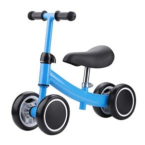 Bicicletas sin Pedales, Bebé Balance Bicicleta Mini Bicicleta Bebe Aprender a Caminar Montar a Caballo de Juguetes Bebes 1 y 3 años 4 Andador de Ruedas Regalo Elección (Azul)