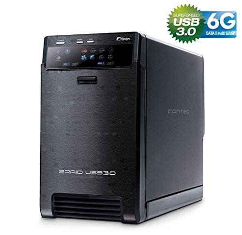 FANTEC QB-X2US3R Box Case Esterno per 2x Hard Disk SATA I/II/III da 8,89 cm (3,5 pollici), Porta USB...