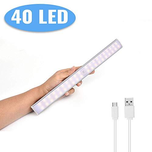 Luce Notte LED con Sensore,Lacyie 40LED Luce per Armadio Sensore di Movimento Lampada USB...