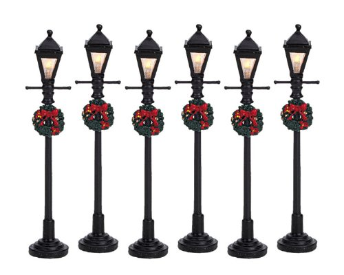 Lemax Gas lantern street lamp - Lampioni a gas 6 pz Cod.64499