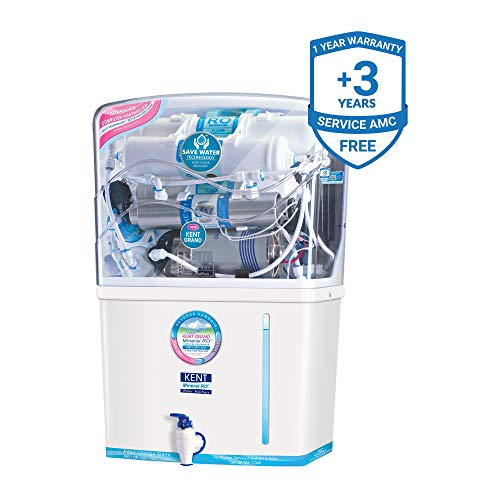 New KENT Grand 8-Liters Wall-Mountable Mineral RO + UV/UF Water Purifier (White)