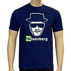 Coole-Fun-T-Shirts - Camiseta de Heisenberg, logo con cabeza azul azul marino Talla:XXL