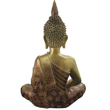 Figura buda iluminado de resina en color dorado y marrón   Tamaño: 29x13x40 cm   Portes gratis 6