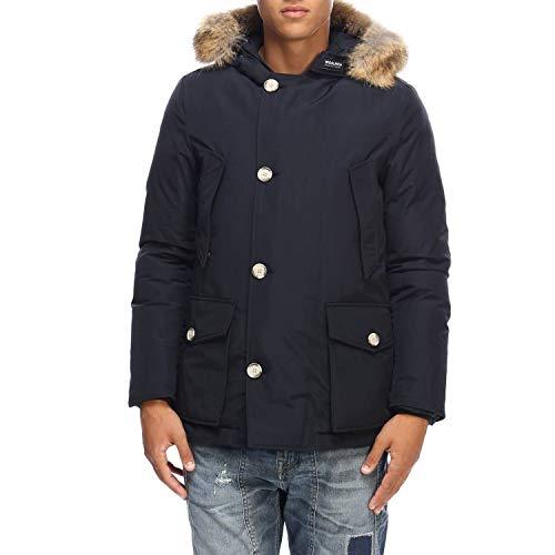 Woolrich Arctic Anorak parka uomo con pelliccia-DKN Blu-M
