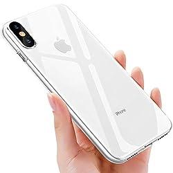 Kaufen UBEGOOD iPhone XS handyhülle, iPhone X handyhülle, Crystal Hülle iPhone XS Schutzhülle Kratzfeste Soft iPhone X Silikon hülle Ultradünn Cover TPU Bumper Case für iPhone X Case Cover-Transparent